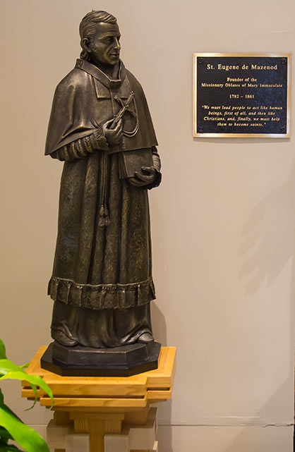 St. Eugene De Mazenod statue