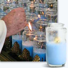 Votive Candle at the National Shrine of Our Lady of the Snows
