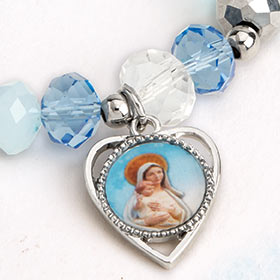 Our Lady of the Snows Heart Bracelet