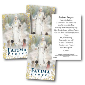 Four Fatima Prayer Cards