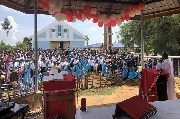 Mass in Kenya with Fr. Cosmas