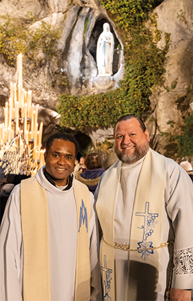 I was blessed to pray with Fr. Alexius at the Lourdes Grotto in France.