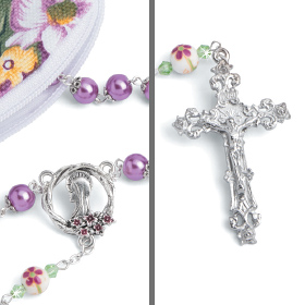 Faith in Bloom Rosary with Pouch
