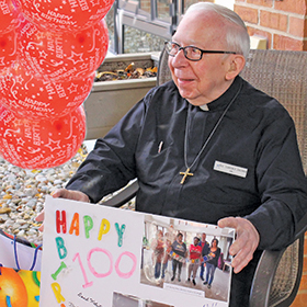 Fr Clarence 100th birthday
